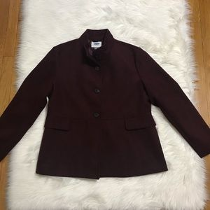 Old Navy Cropped XL Burgundy Peacoat